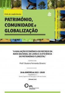 Cartaz - Ciclo Conf. - Património, Comunidade e Globalização (Património Florestal)